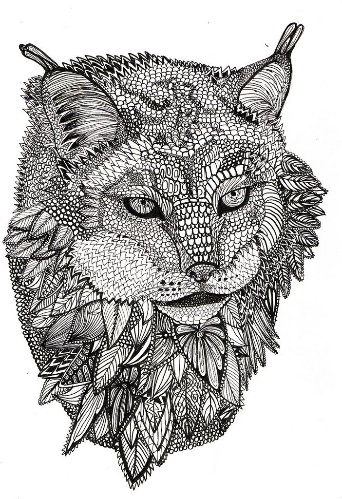 Animals coloring pages for adults to download and print ... | free online coloring pages for adults animals