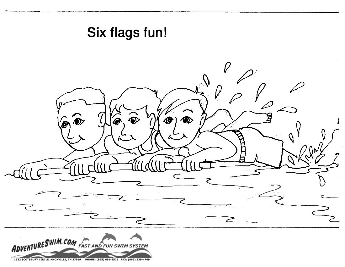 Swimming Safety Coloring Pages Download And Print For Free