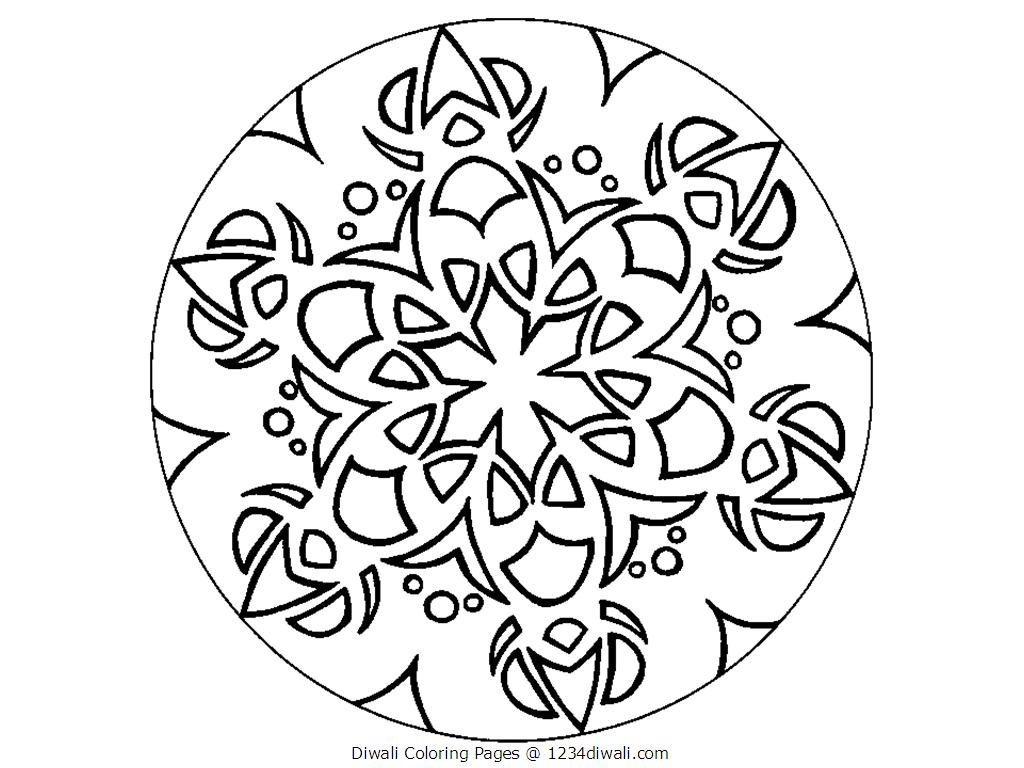 Rangoli coloring pages to download and print for free