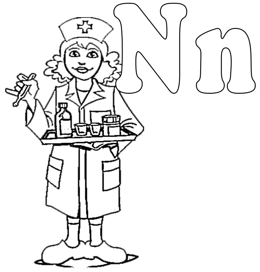 Nurse coloring pages to download and print for free