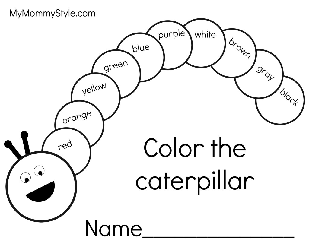 Caterpillar Coloring Pages To Download And Print For Free