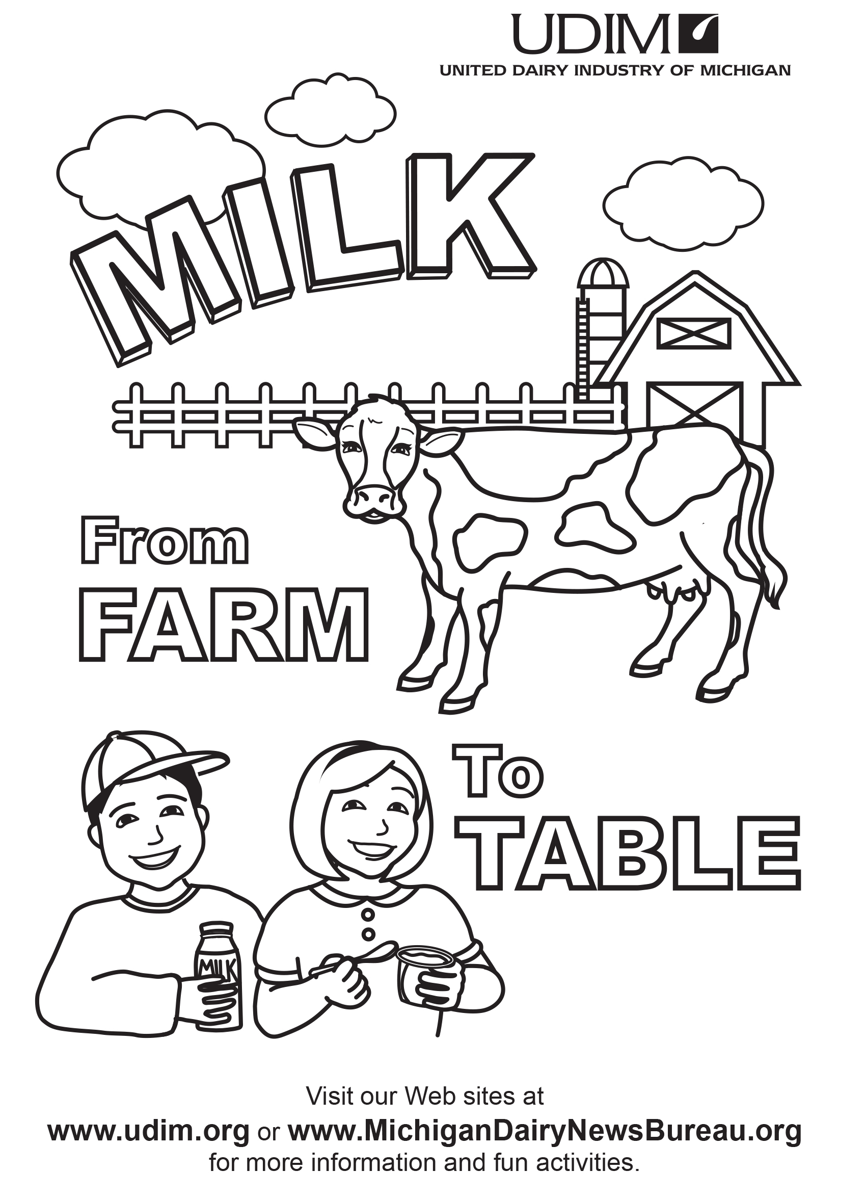 Dairy group coloring pages download and print for free