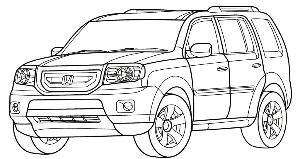 Honda coloring pages download and print for free