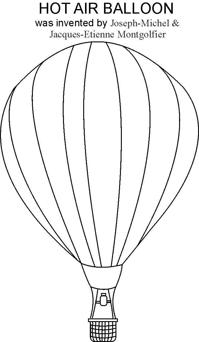 Hot air balloon coloring pages to download and print for free
