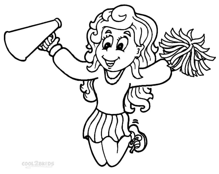 Cheer coloring pages to download and print for free