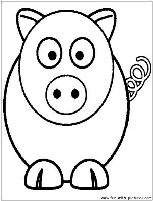 coloring animal cartoon pages