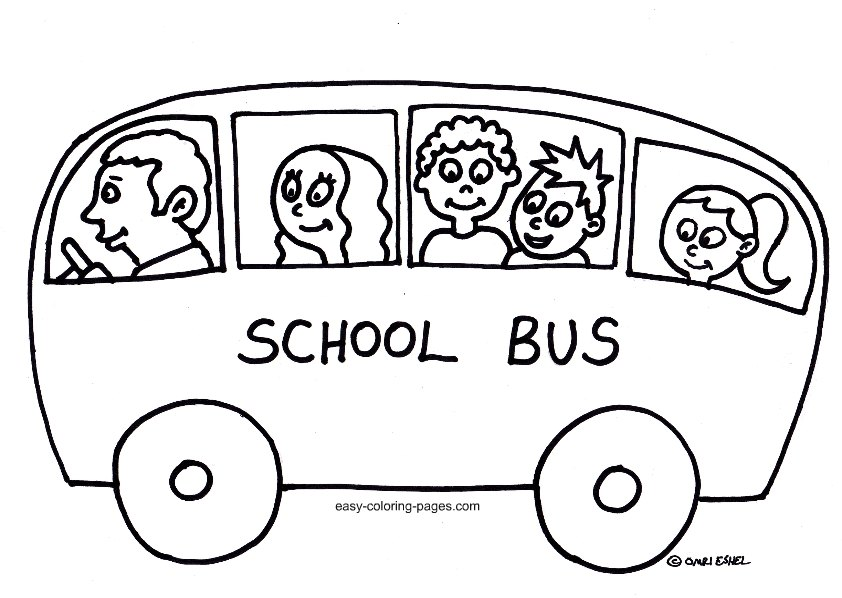 Bus coloring pages to download and print for free