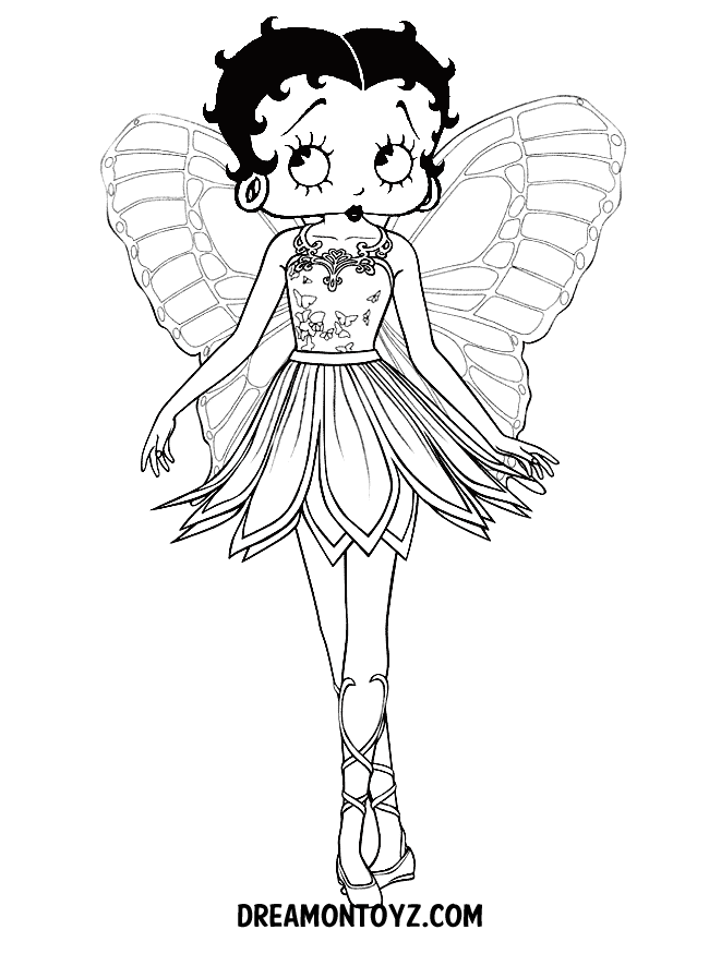 Betty boop coloring pages to download and print for free