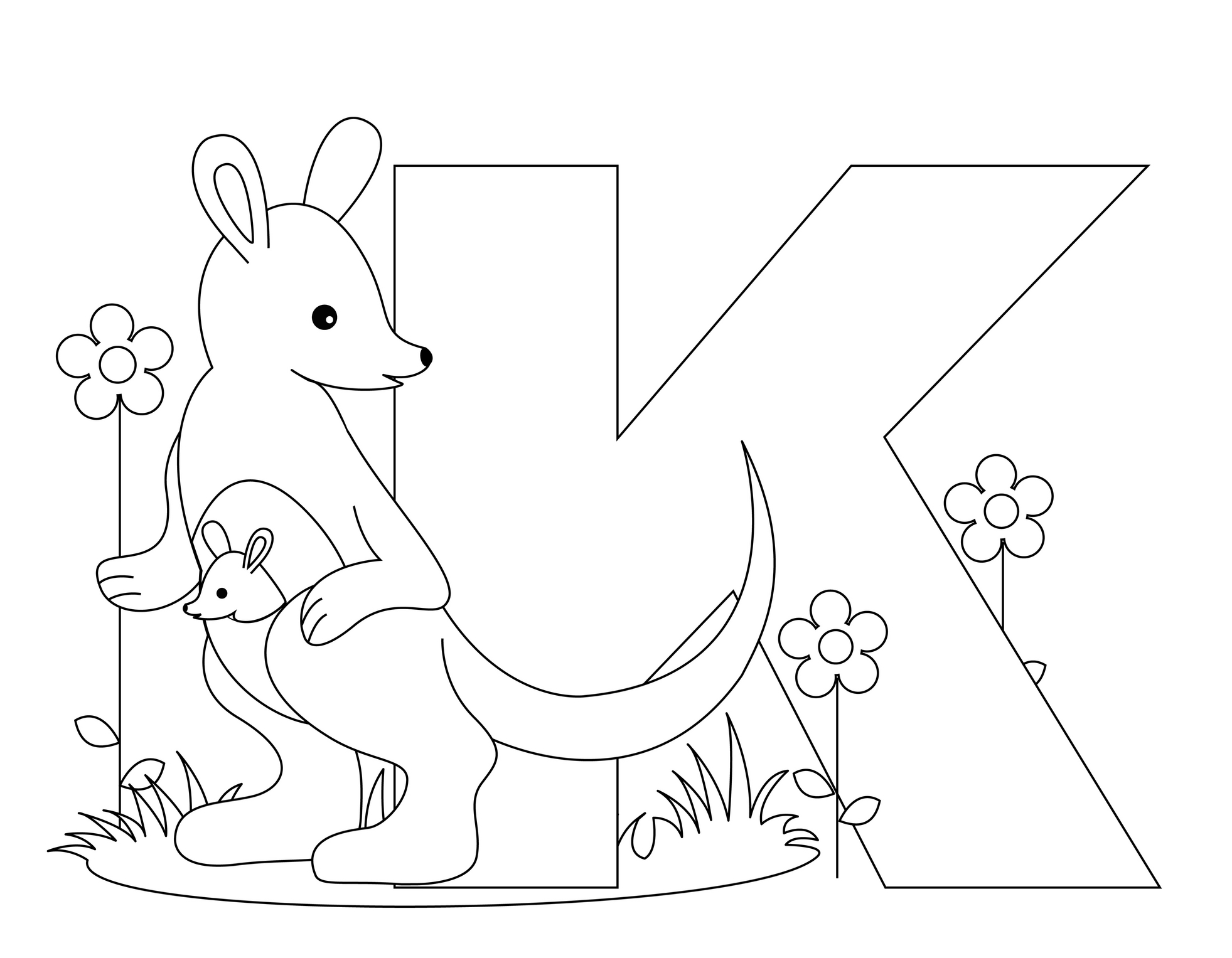 Letter K Coloring Pages To Download And Print For Free