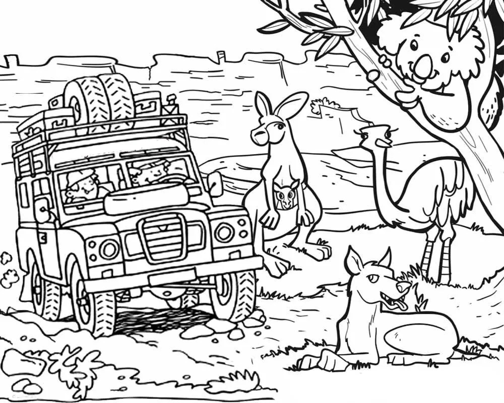 Australia coloring pages to download and print for free | free printable colouring pages australian animals