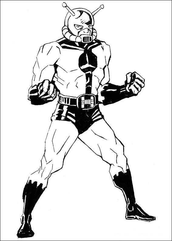 Ant-Man coloring pages to download and print for free