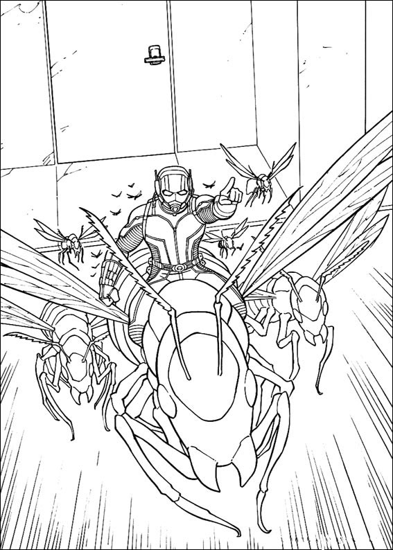 antman coloring pages to download and print for free