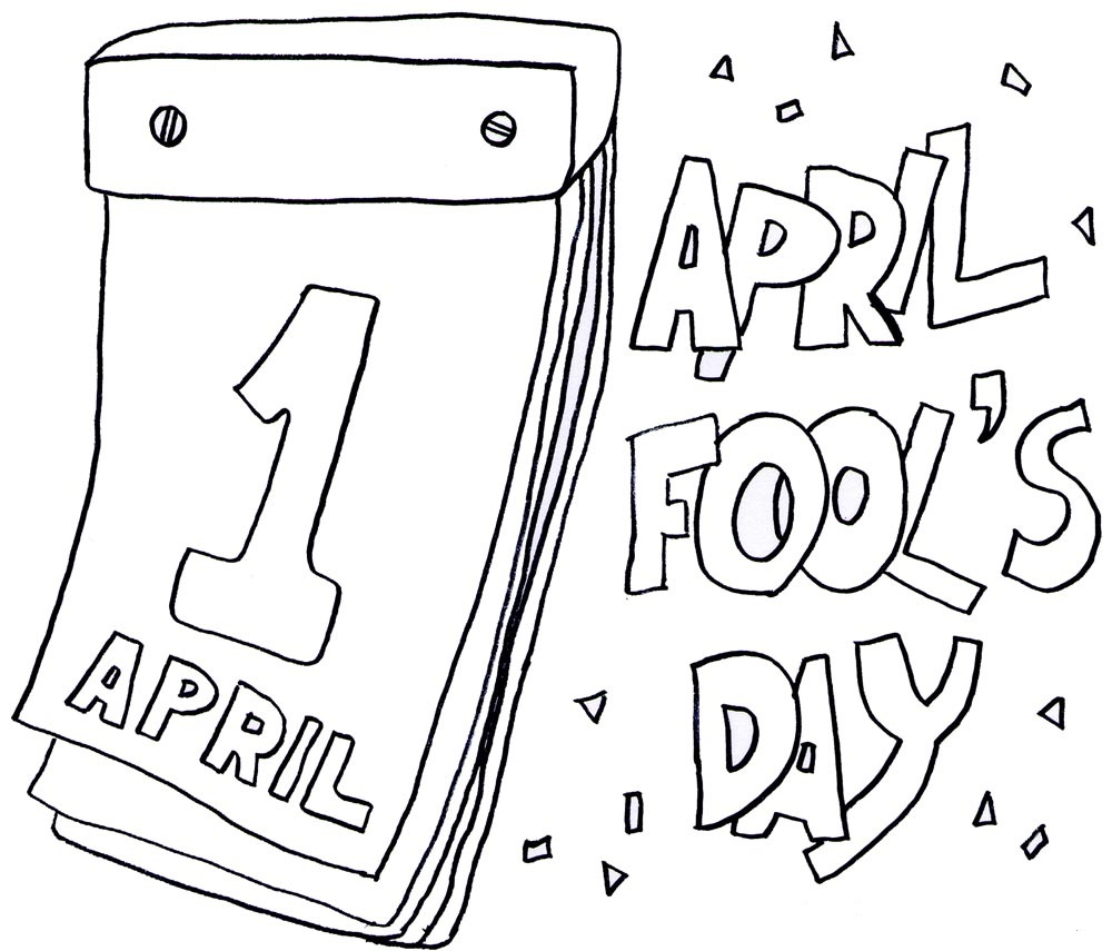 April Fool's Day Coloring Pages for childrens printable