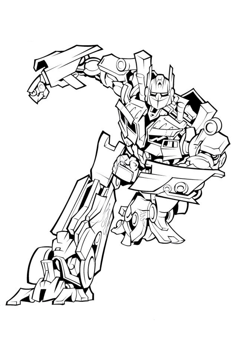 Autobot coloring pages for boys to print for free