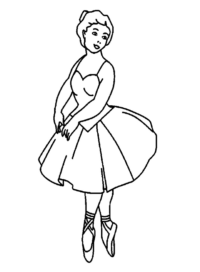 Ballerina Coloring Pages For Childrens Printable For Free
