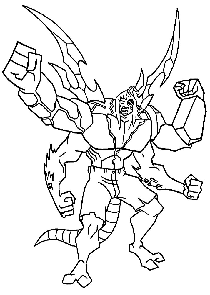 Ben 10 Kevin 11 Coloring Pages Coloring Pages
