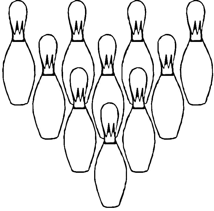 Bowling Coloring Pages For Childrens Printable For Free