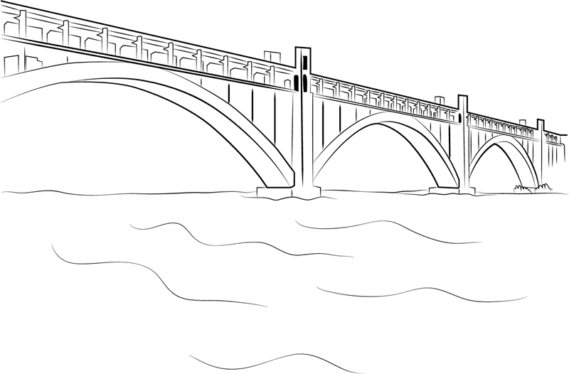 Bridge coloring pages to download and print for free