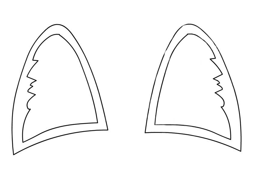 Ear coloring pages to download and print for free