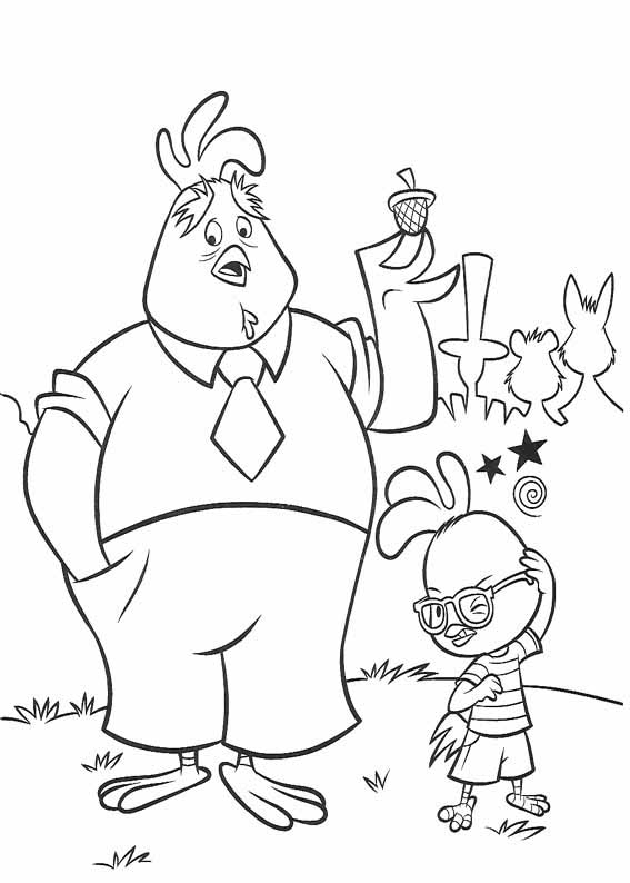 Chicken Little coloring pages to download and print for free