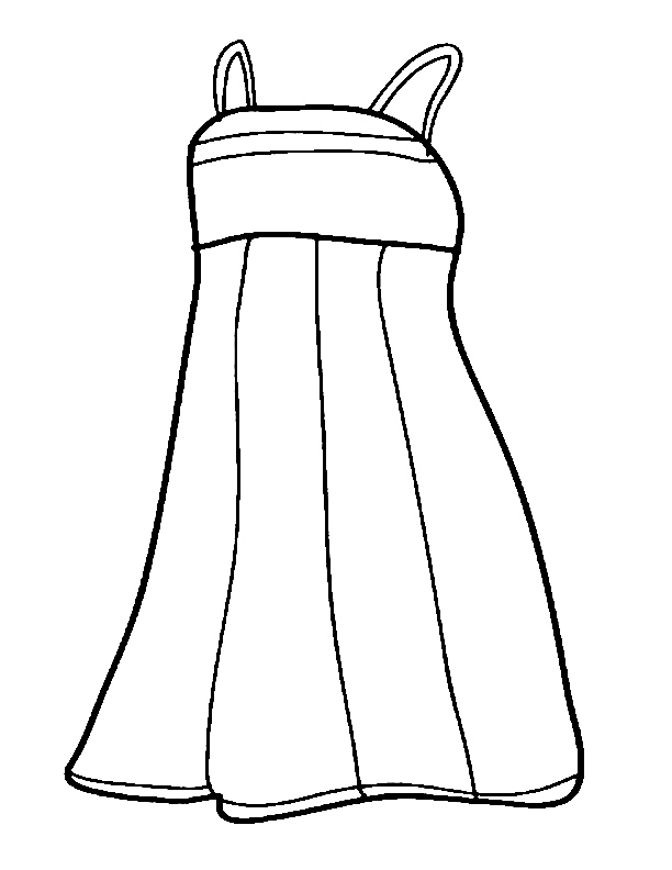 Сlothes Coloring Pages for childrens printable for free