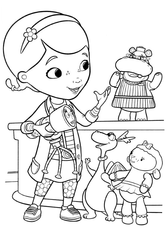 Doc Mcstuffins Coloring Pages to download and print for free