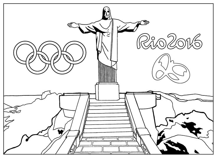 Rio 2016 Olympics Coloring Pages to download and print for