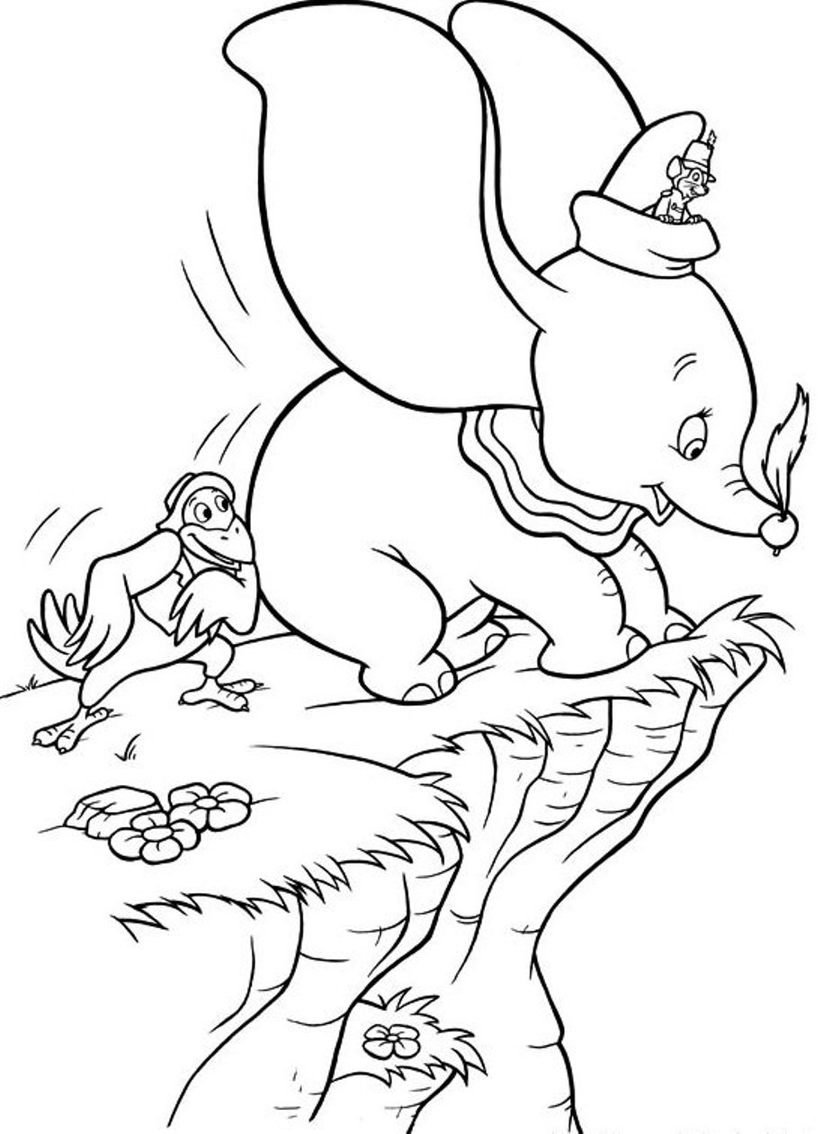 Dumbo Coloring Pages to download and print for free