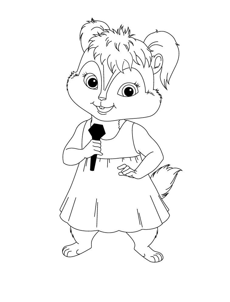 Coloring pages from Alvin and the chipmunks animated movie