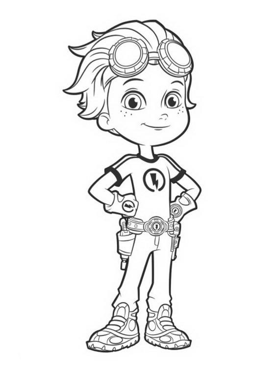 Rusty Rivets Coloring Pages To Download And Print For Free
