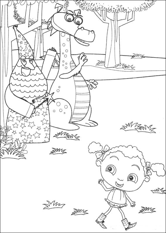Franny's Feet coloring pages to download and print for free