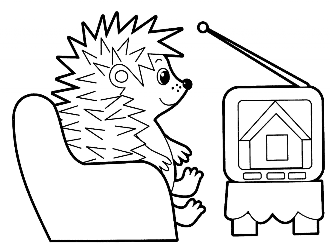 TV coloring pages to download and print for free