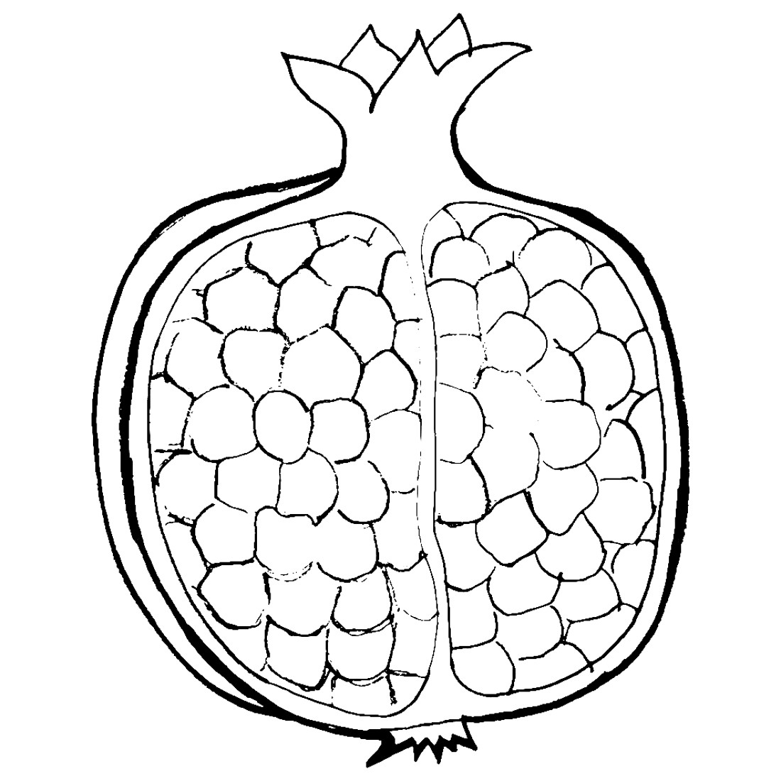 Garnet Fruit Coloring Pages To Download And Print For Free