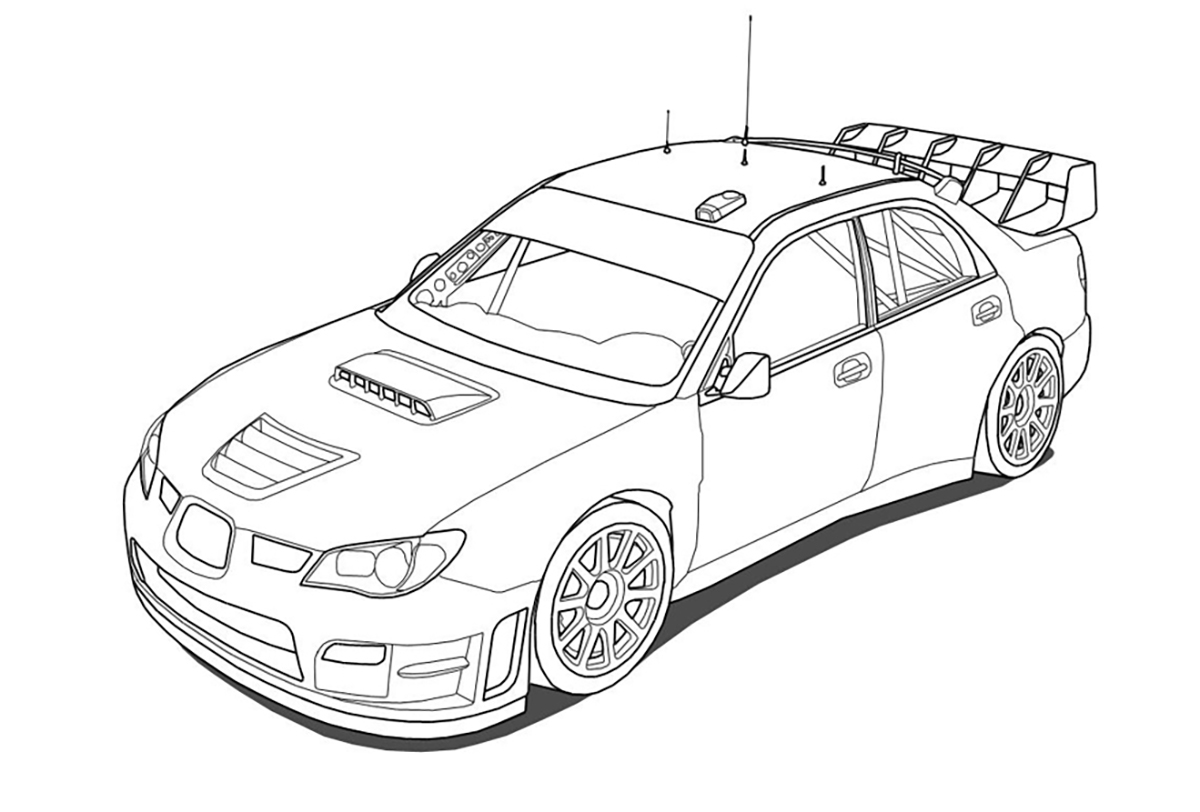 Subaru Coloring Pages to download and print for free