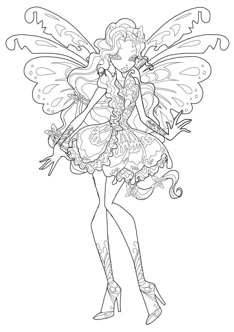 Winx Butterflix Coloring Pages To Download And Print For Free
