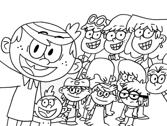 loud coloring pages printable print colouring cartoon sheets sheet cute lincoln nickelodeon printables selfie lineart djgame2 holly ben colorir lynn