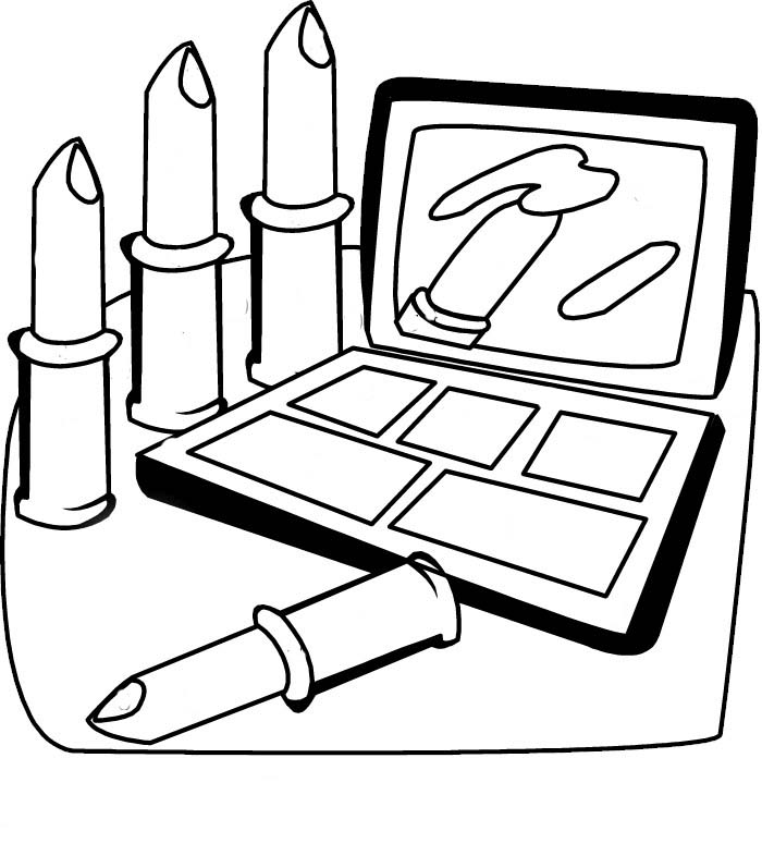Cosmetic coloring pages to download and print for free