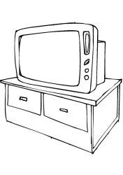 coloring pages tv furniture print sofa coloringtop