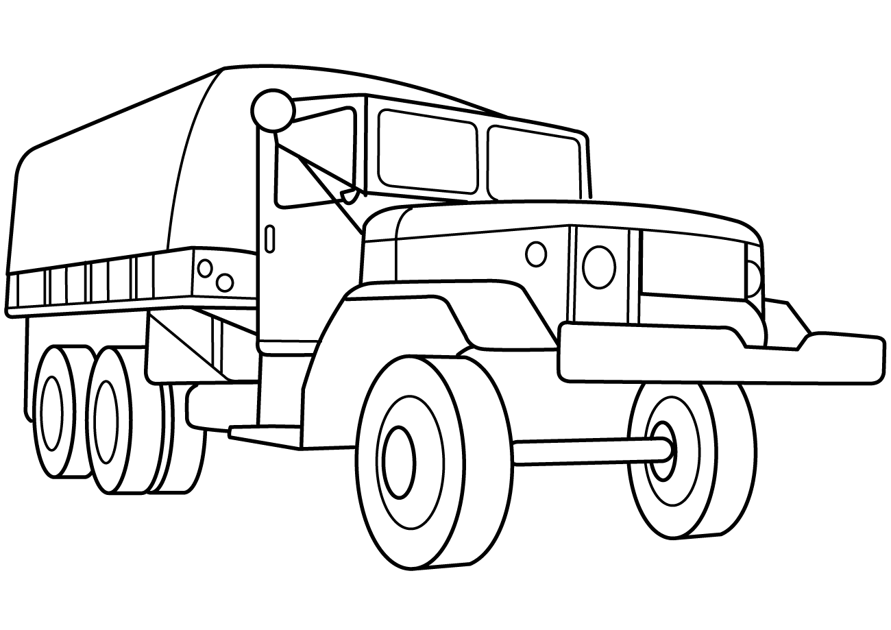 Army Vehicles Coloring Pages To Download And Print For