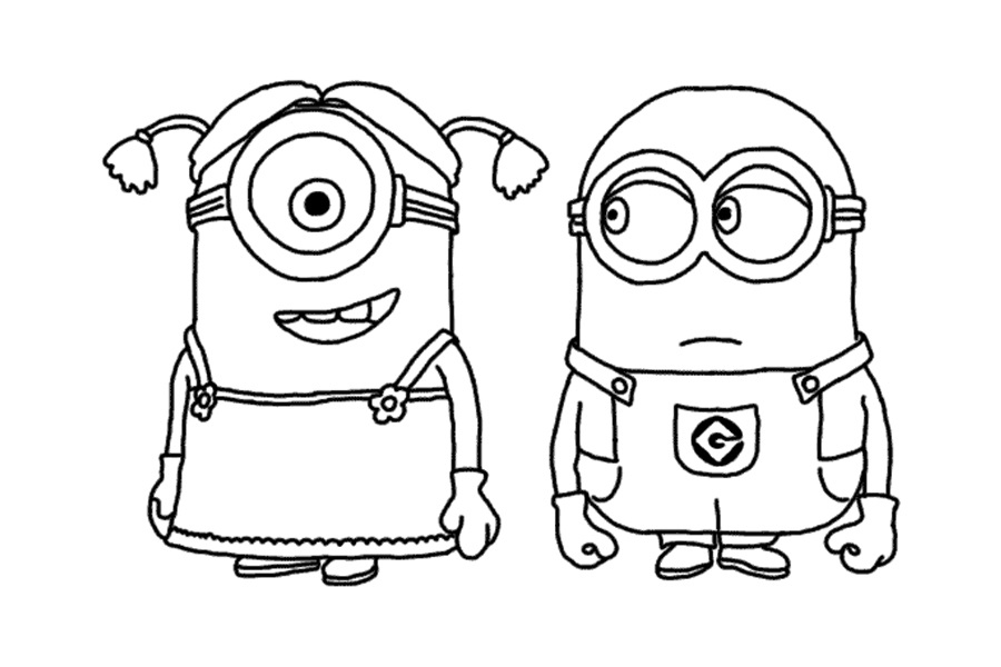 """To print minion coloring pages from """"Despicable Me"""" for free"""