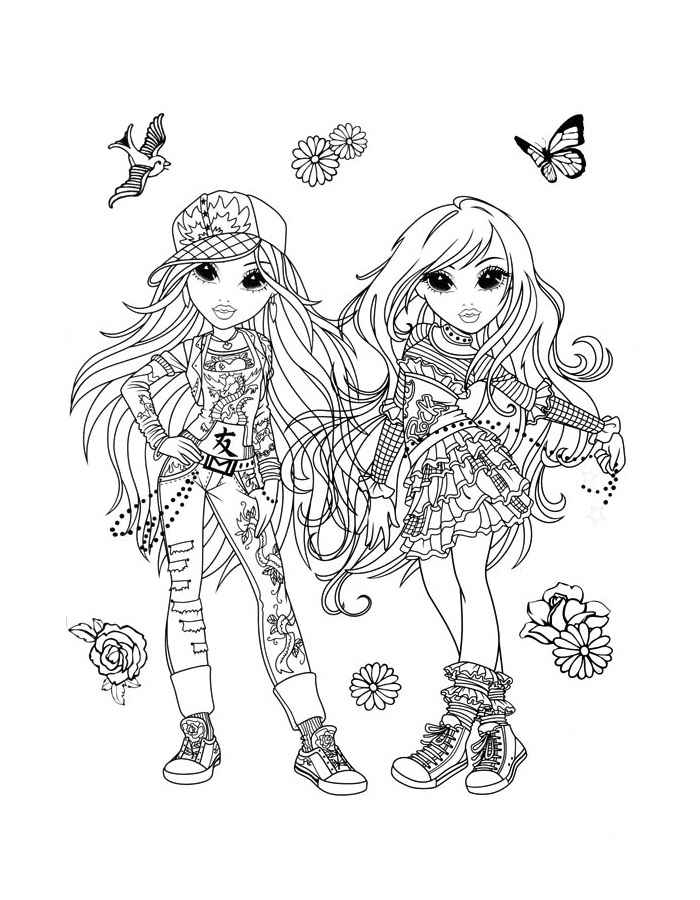Moxie coloring pages for girls to print for free