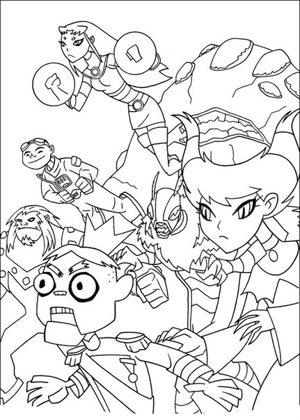 Teen Titans Go Coloring Pages to download and print for free