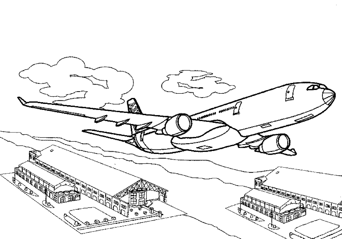 Airport coloring pages to download and print for free