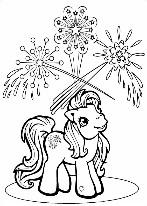 Ponies from Ponyville coloring pages, free printable