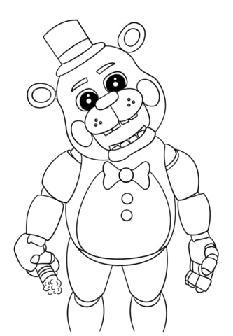 Animatronics coloring pages to download and print for free