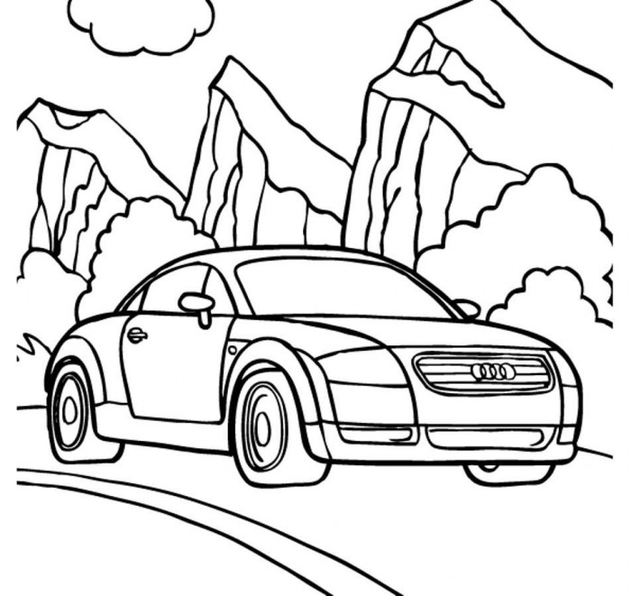 Coloring Racing Audi R8 Coloring Pages
