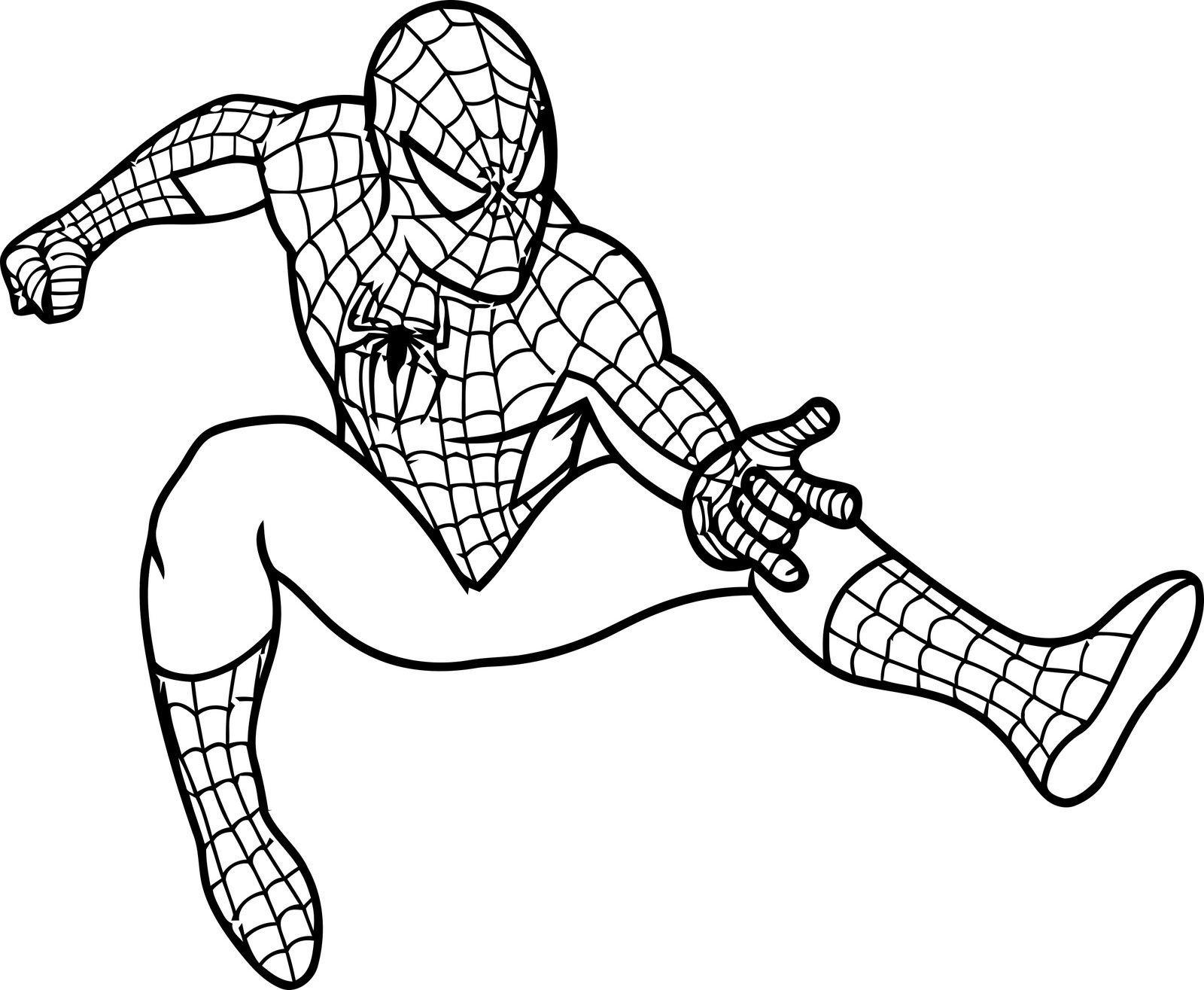 Spiderman coloring page: download for free print