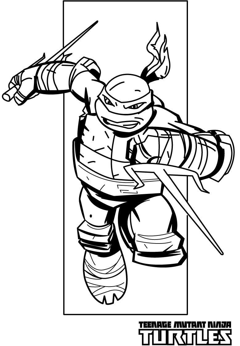 Ninja turtles coloring pages from animated cartoons of
