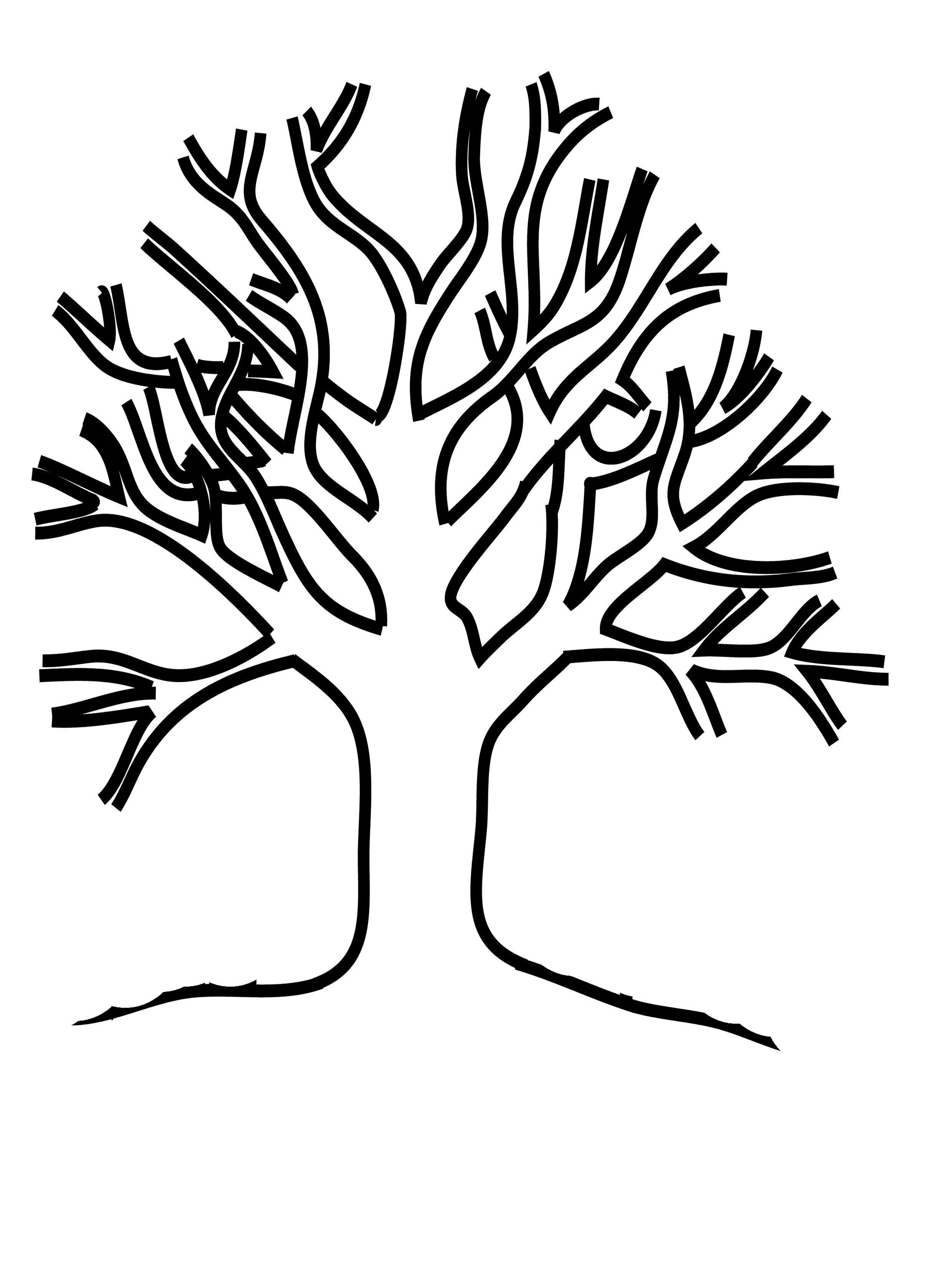 Malvorlage Winter Baum - tippsvorlage - tippsvorlage