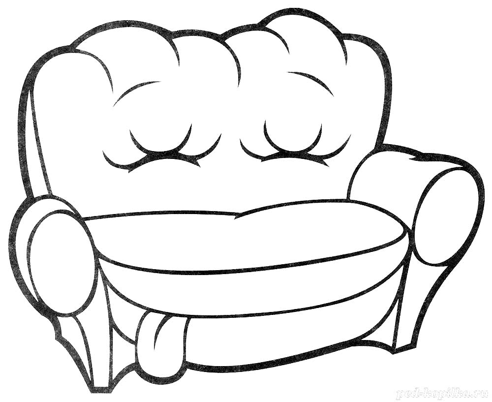 Sofa coloring pages to download and print for free